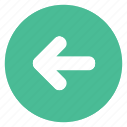 arrow, back, direction, left, movement icon