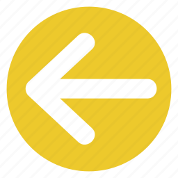 arrow, back, direction, left, movement, sign icon