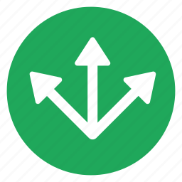 arrow, direction, multiple, seperate, split icon