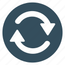 arrow, clockwise, refresh, repeat, right, turning icon