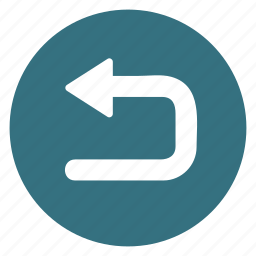 arrow, direction, left, movement, return, sign, turn icon