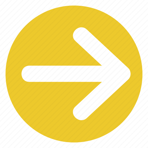 arrow, direction, movement, right, sign, traffic icon