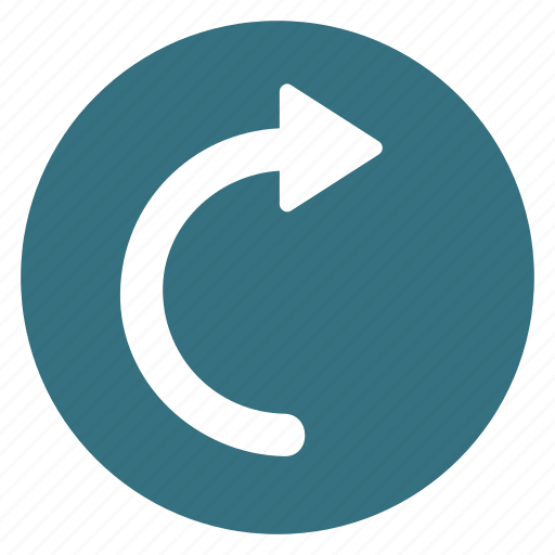arrow, clockwise, loading, refresh, right, rotate, uturn icon