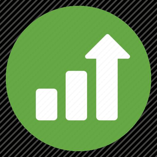 arrow, high, improvement, profit, raise, rise, scale icon