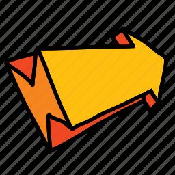 arrow, arrows, dimensional, direction, movement icon