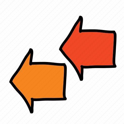 arrows, current, direction, following, left, stream icon