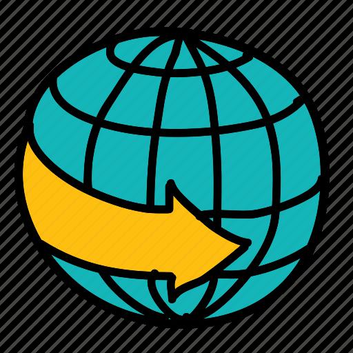 around, arrow, arrows, direction, movement, world icon