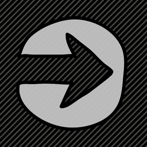 arrow, arrows, circle, enter, online, send, upload icon