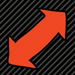 arrow, arrows, double, two, way icon
