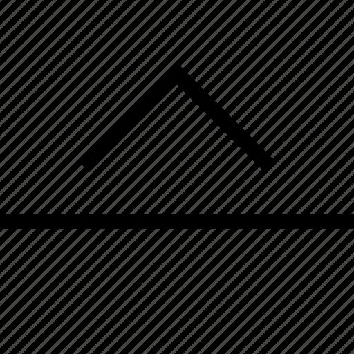 Arrow, direction, download, navigation, pointer, slide, up icon - Download on Iconfinder