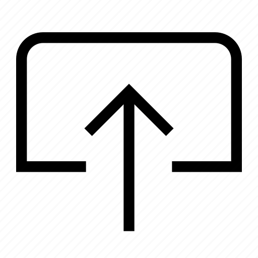 arrow, direction, document, file, move, up, upload icon