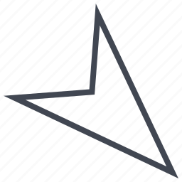 arrow, down, point, pointing, right icon