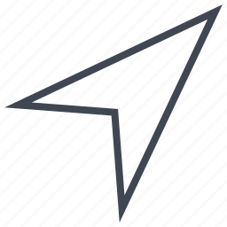 arrow, point, pointing, right, up icon