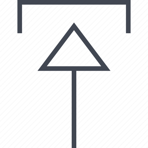 arrow, point, pointing, upload icon