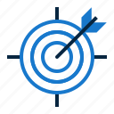 targeting, target, arrow, bulleye, objectives, goal, achievement icon