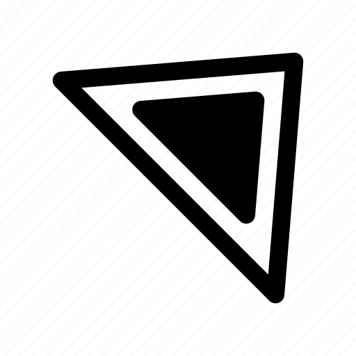 arrow, direction, navigation, northeast, right, top, way icon
