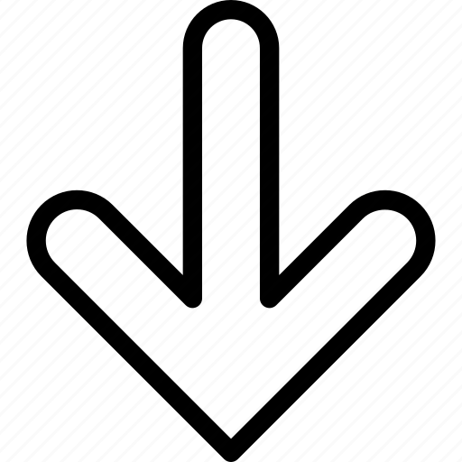 arrows, direction, down, line-icon, location icon