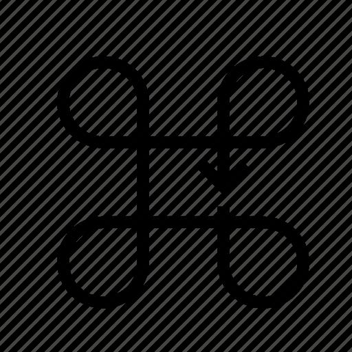 area, around, make, rounds, the icon