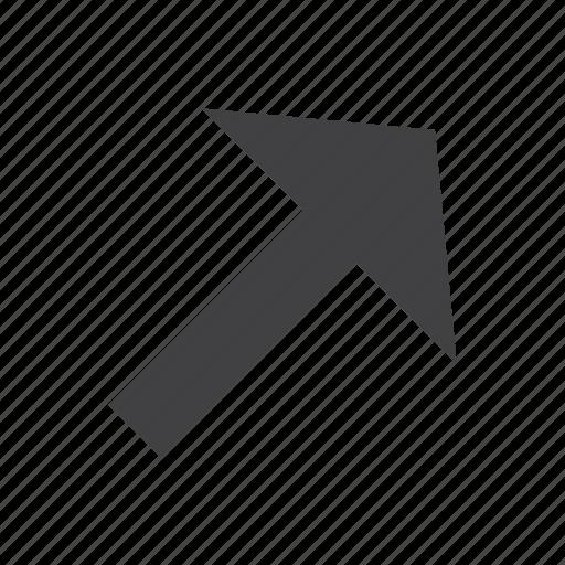 arrow, arrows, right, up icon