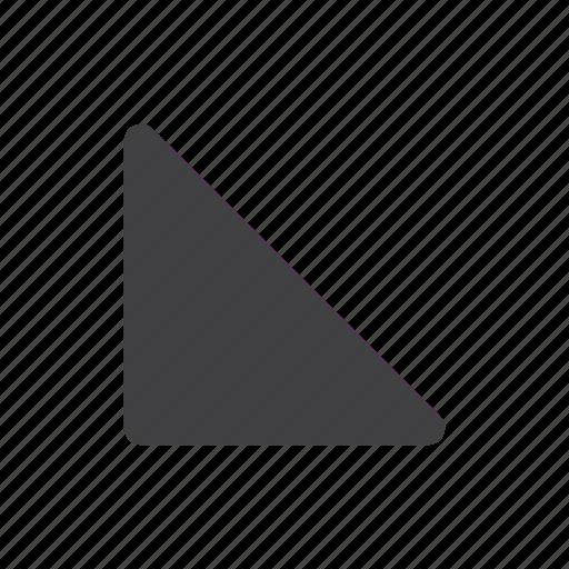 arrow, arrows, down, left icon