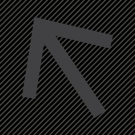arrow, arrows, left, up icon