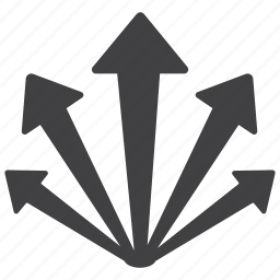 aim, arrow, arrows, distribution, up icon
