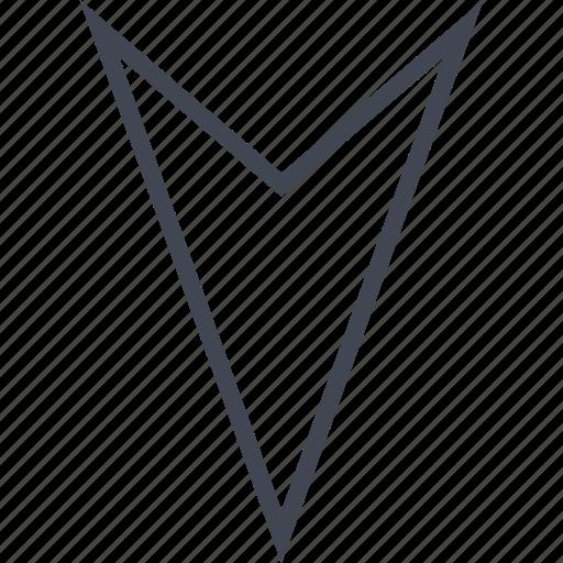 arrow, down, go, point, pointer icon