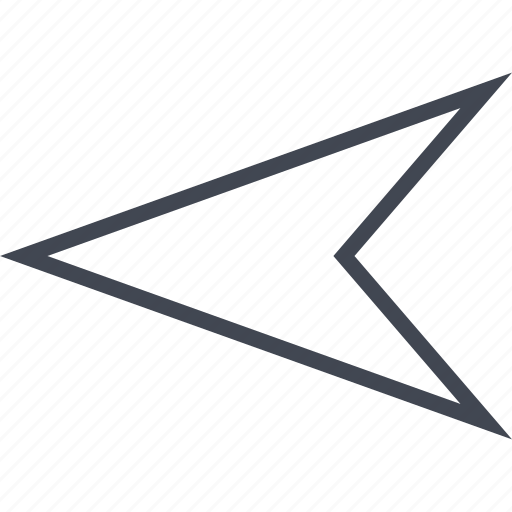 arrow, left, point, pointing icon