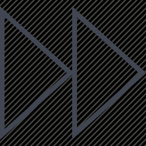 arrow, back, double, left icon