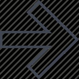 arrow, forward, go, next, point, pointer icon
