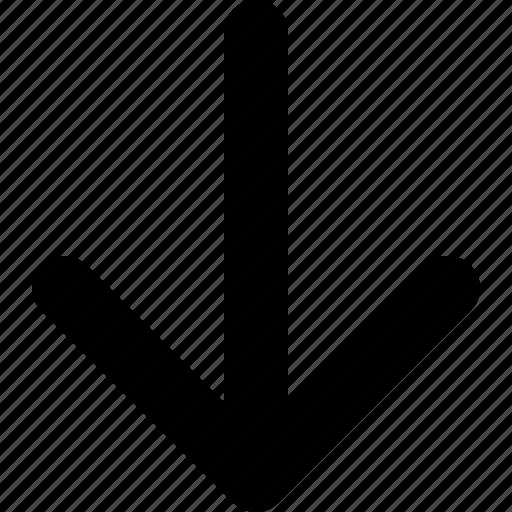 arrow, arrow bottom, arrow down, bottom, down, next icon