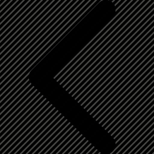 arrow, arrow left, left, point, previous icon