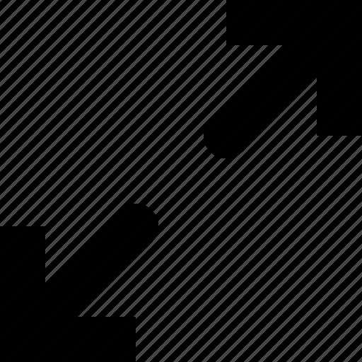 arrows, enlarge, expand, fullscreen, maximize, resize icon