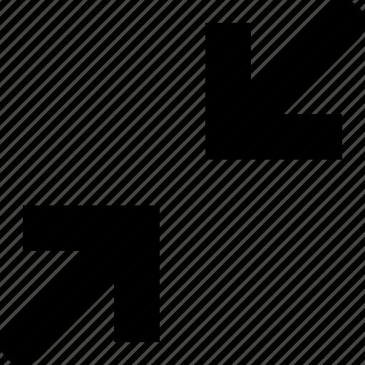 arrows, decrease, lessen, minimize, reduce, shrink icon