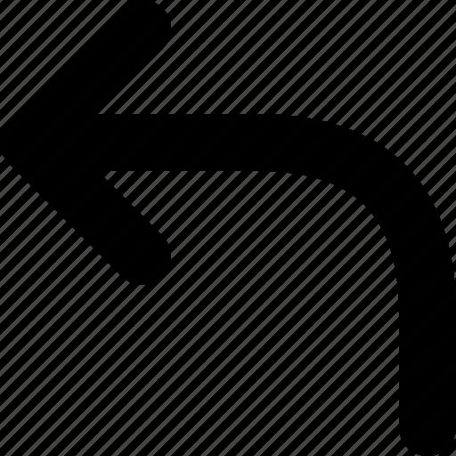 arrow, back, backspace, remove, rewind, turn, undo icon