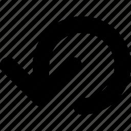 arrow, refresh, restart, reverse, rewind, rotate icon