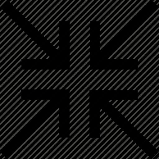meet, minimise, minimize icon