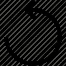 arrow, circule, turn left icon