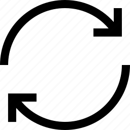 arrow, circule, refresh icon