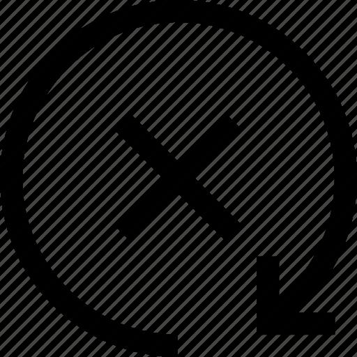 cancel, circule, refresh icon