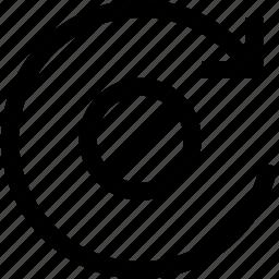 decline, refresh icon