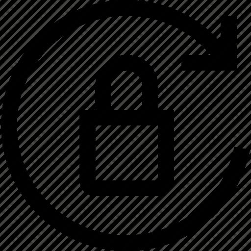 lock, refresh icon