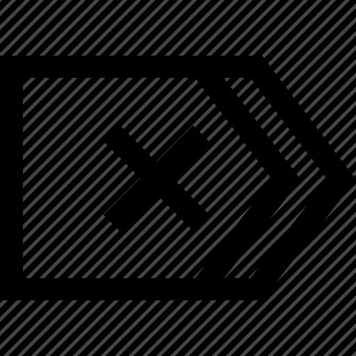 arrow, road sign icon