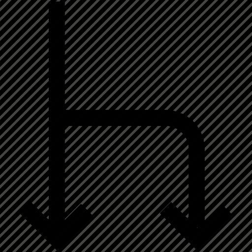 arrow, chhose, shourt cut, two ways icon