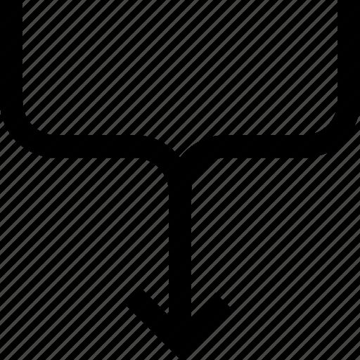 arrow, two icon