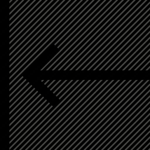 align, arrow, left icon