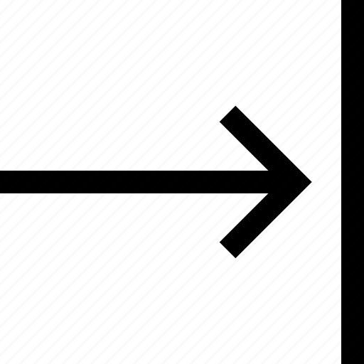 align, arrow, right icon