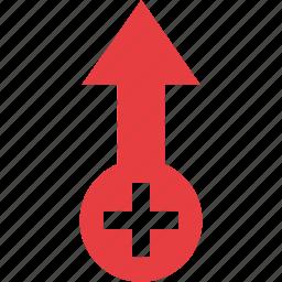 add, arrow icon