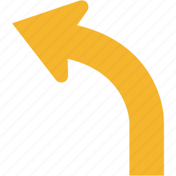 arrow, back, left, previous, turn icon