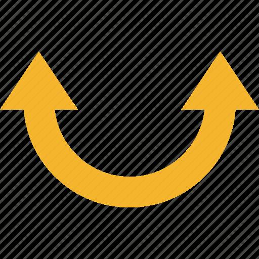 arrow, double icon